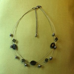 Lia Sophia floating black necklace